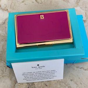 Kate Spade Business Card Holder Initial B